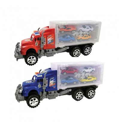 Camion transportador con 4 coches