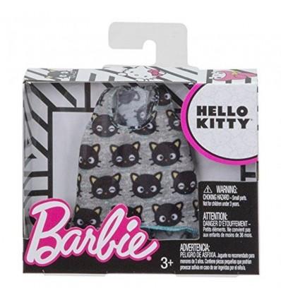 Barbie moda camiseta gris con gatitos