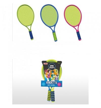 Raquetas de tenis con pelota