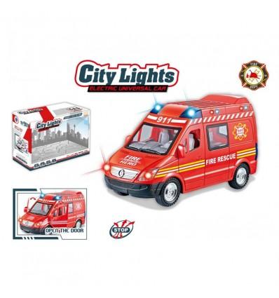 Camion bomberos con luz y sonido