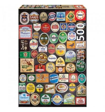 Puzzle 1500 etiquetas de cerveza