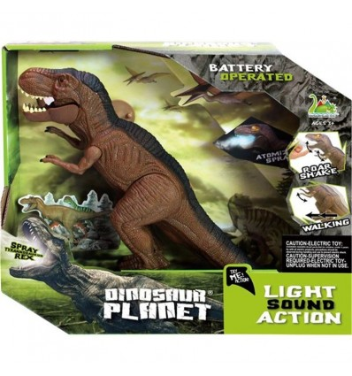 Dinosaurio caminador 30cm con luz y sonido