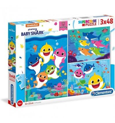 Puzzle 3x48 baby shark