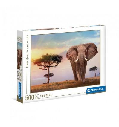 Puzzle 500 puesta de sol en africa