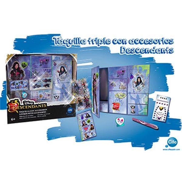 Taquilla 3 modulos glitter descendants