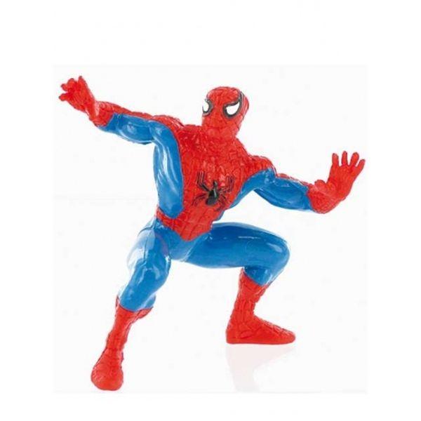 Figura pvc 9 cm. super heroes spider rojo pie