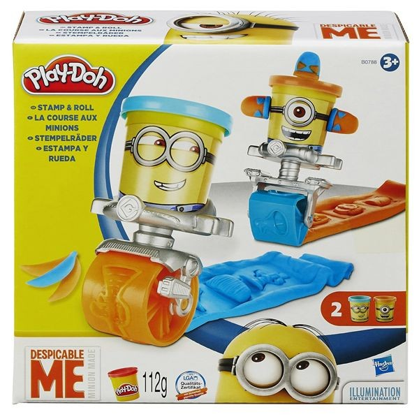 Playdoh stamp and rool minions