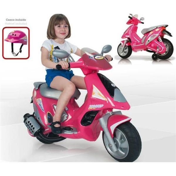 Moto scooter duo girl 6 v. c/ casco""""""""