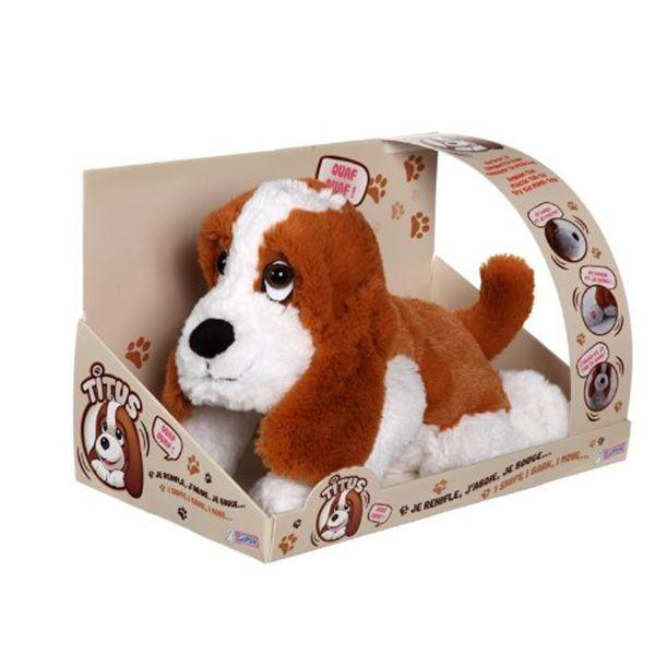 Titus perro con varias funciones y sonidos 33 cm.