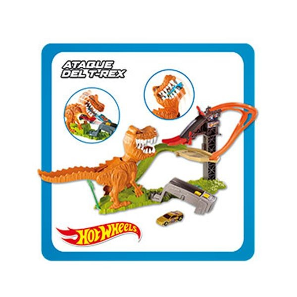 Ataque del t-rex hot wheels
