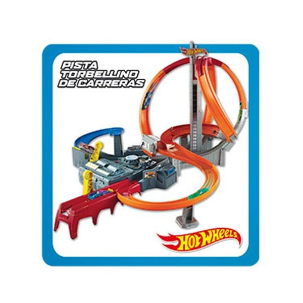 Pista torbellino de carreras hot wheels