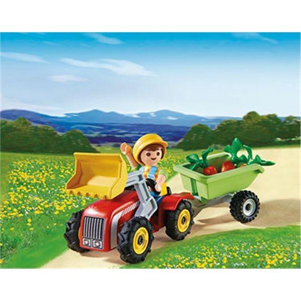 Nio con tractor