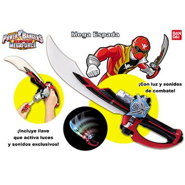 Mega espada super megaforce power rangers