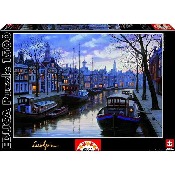 Puzzle 1500 amsterdam de noche