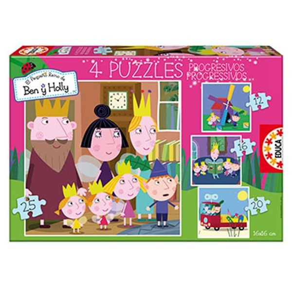Puzzle progresivo ben & holly 12-16-20-25