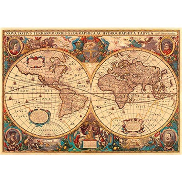 Puzzle 5000 antiguo mapamundi