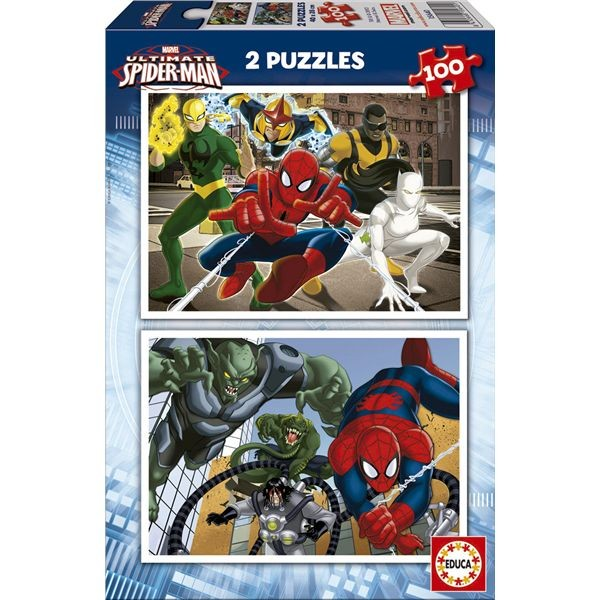 Puzzle 2 x 100 ultimate spiderman
