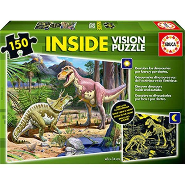 Puzzle 150 dinosarios inside vision