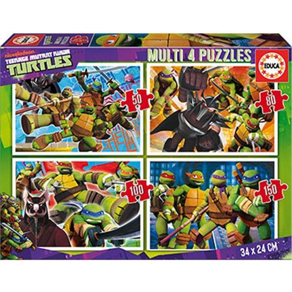 4 puzzles 50-80-100-150 tortugas ninja