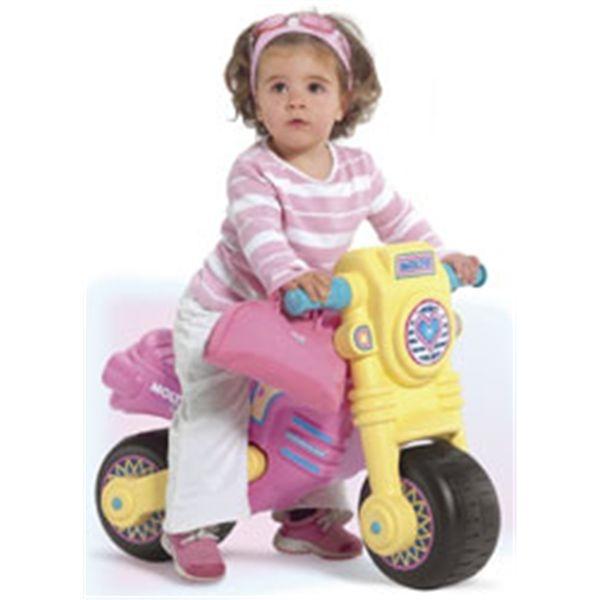 Moto cross clsica rosa