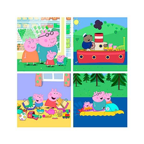 Puzzle progresivo peppa pig 6+9+12+16