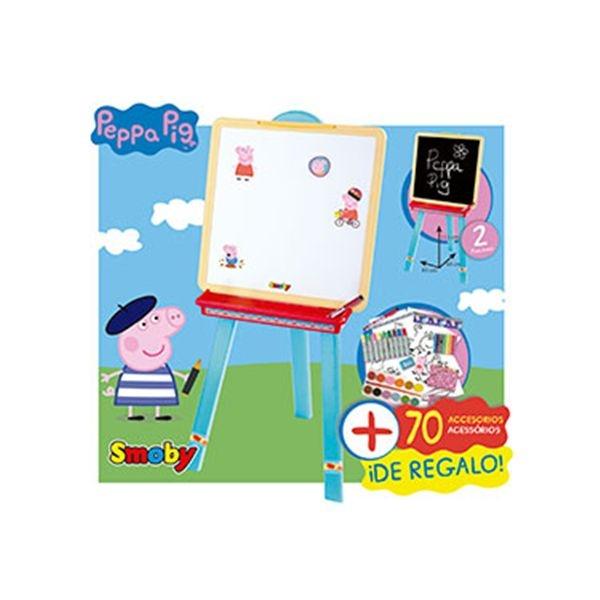 Pizarra peppa pig + accesorios