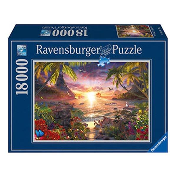 Puzzle 18000 atardecer paradisiaco